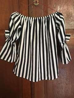 Preloved Atasan Top Baju Wanita Stripe