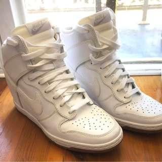 Nike Wedges Hi Top Women Shoes Size 9US Sky Dunk sneakers white