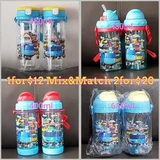 1for$12 2for$20 Tayo The Little Bus Straw Type Children Water Bottle