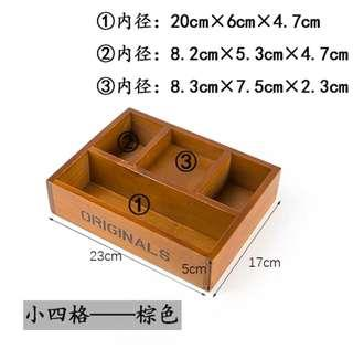 Wooden Table Organiser/ Box