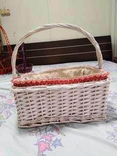 3 Baskets with cloth ribban Christmas gift