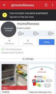 Scammer account name