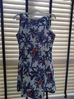 Floral Dress in Blue