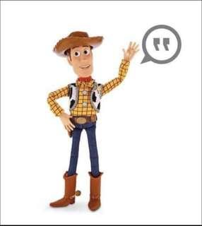 """[Only for Dec Xmas Month] Toy Story Pull String Woody 16"""" Talking Figure - Disney Exclusive"""