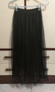 🚚 韓 網紗氣質長裙
