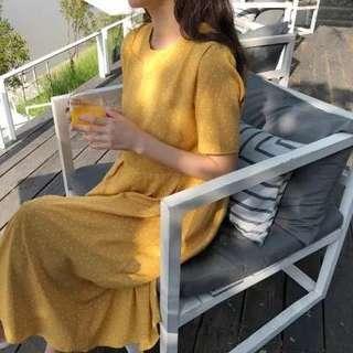 Polka dots midi dress