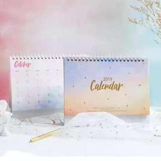 2019 漸變月曆 Calendar 日曆 年曆 座枱曆 Desk Calendar 日程簿 Schedule Book 迪士尼 Kikki 筆記簿 日程本 文具 畢業 粉紅