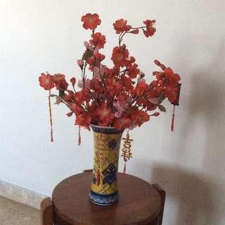 Chinese new year flowers vase