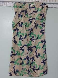 Korean printed dress