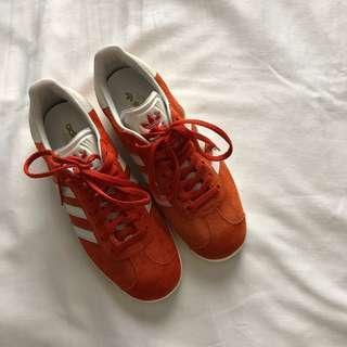 Adidas Gazelle Blood Orange Size 6