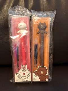Line Friends Action Gel pen 筆 (可動)
