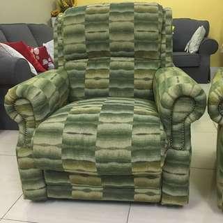 Fella Design Green Reclining sofa Sofa Chair Pair