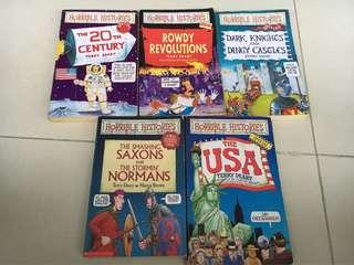 🚚 5 Horrible Histories bks