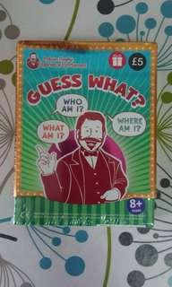 🚚 BNWT 'Guess What?' UK Card Game