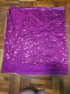 🚚 Pink shiny translucent Shawl/ Wrap / Cloth (for festive occasions!)