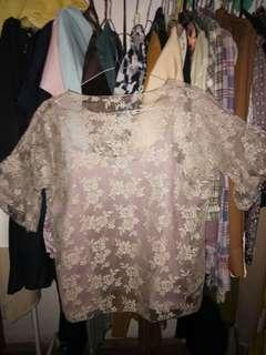Lace Brukat Top