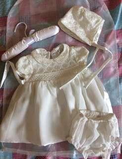 Baptismal set for baby girl