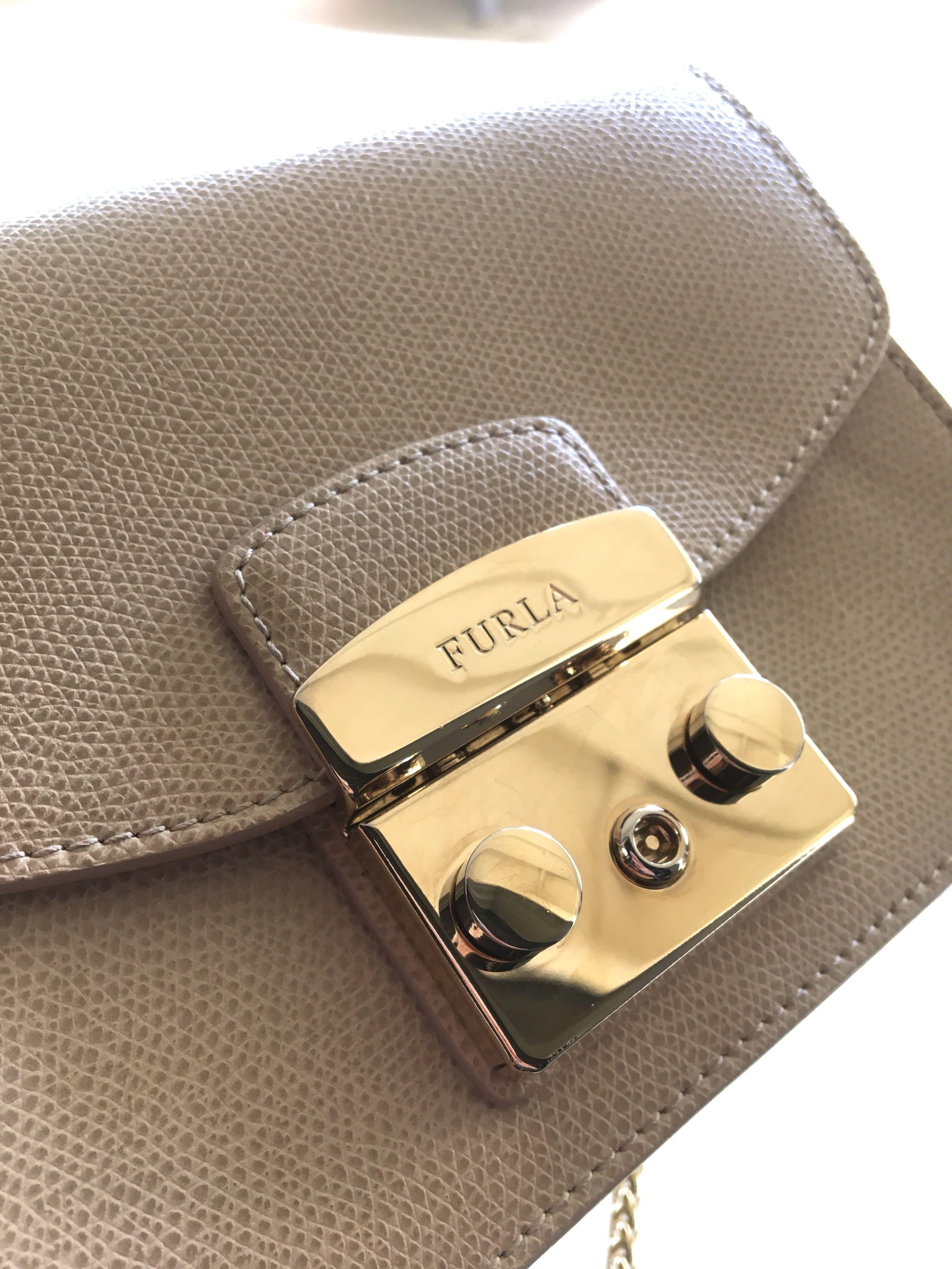 bfd6b844dd1d 100% Authentic Furla Metropolis Mini Crossbody METROPOLISCRETA beige ...