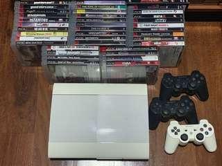 PS3 Super Slim + 38 games (great deal)