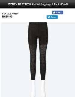 UNIQLO Heattech Knitted Leggings