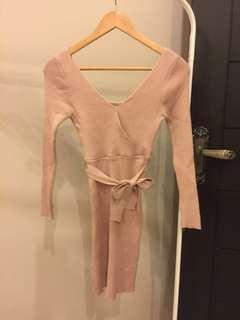 Knitted Peach Dress #DEC50
