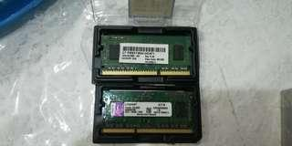 2 2G ddr3 notebook laptop ram