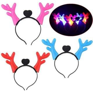 LED Antler Headband Christmas New Year Gift Decoration Deer Head Hoop Hair Bands Hairbands Festival Accessories For Children