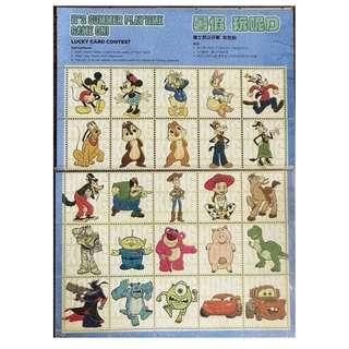 迪士尼 拍拍卡 一版 25 張