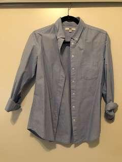 Uniqlo blue shirt size M 165