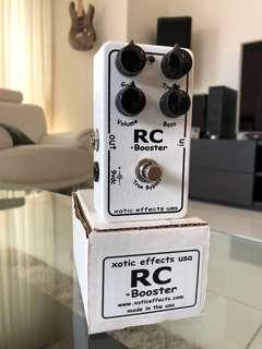 Xotic RC Booster Guitar Boost Drive Stomp Effect Pedal
