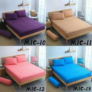 Cadar Plain Fitted  Single / Queen/ King Fitted Bedsheet
