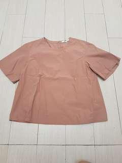 Uniqlo dusty pink blouse