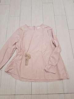 Korean pink blouse