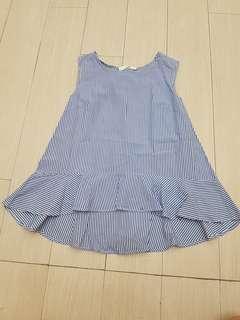 Blue stripes blouse