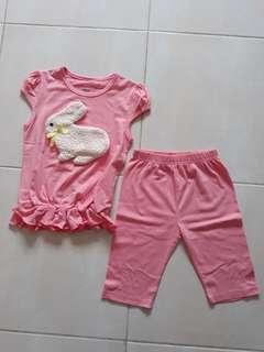 Setelan GW rabbit pink