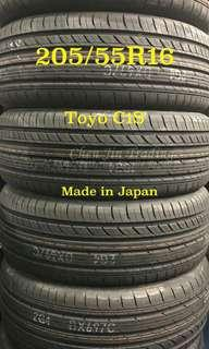 205/55 R16 Toyo C1S, Made in Japan, year end promotion, wholesale price, limited stock left