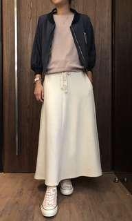 🚚 米白綿長裙