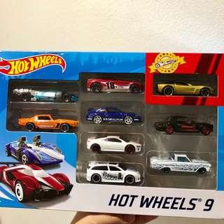 Bnew Hot Wheels 9-pack