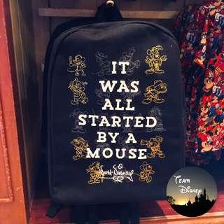 """[Xmas Sale] Mickey 90 Party Event - """"IT WAS ALL STARTED BY A MOUSE"""" Backpack 米奇90派對盛事 - """"IT WAS ALL STARTED BY A MOUSE"""" 背囊"""