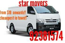 Budget mover cheap mover!!!$19 onwards!!