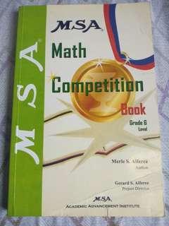 MSA MATH COMPETITION BOOK GRADE 6 LEVEL