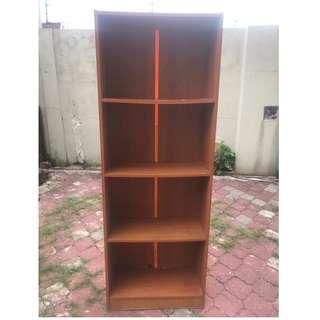 Rak Buku Book Shelf Wood 2' x 6.5' * M16 B