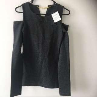 Guess Yoke Top Dark Coal
