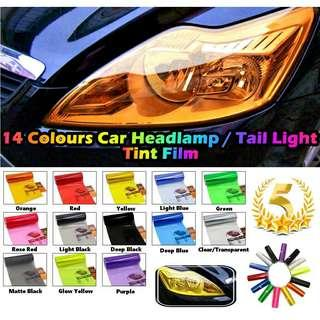 Car Tinted Film Headlamp Headlight Fog light Tail Light Sticker Smoke Tint Film