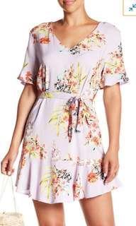 Cotton On Matina Lilac Floral Dress