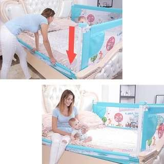 INSTOCK - Vertical Lift Baby Bed Rail Bed Guard Bed Fence