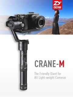 Zhiyun Crane M Gimbal perfect for Mirrorless Cameras