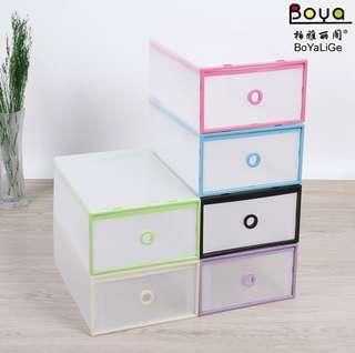 shoe storage boxes translucent heel drawer shelf box-intl