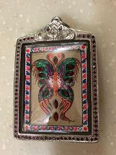 Kruba krissana blk B wai kru , with real silver & real ruby casing