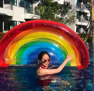 Inflatable mount inflatable photo mount water bed swimming circle adult web celebrity foreign trade swimming pool party photography props
